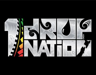 1 Drop Nation band logo design