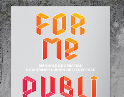 Forme Publique poster / branding