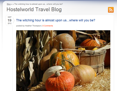 Hostelworld.com: Halloween events feature