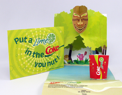 Coca Cola Lime Promotional Party Invitation