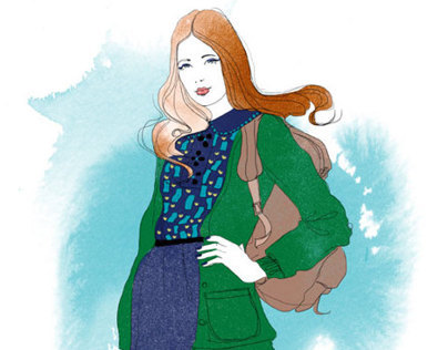 Illustrations for Teen Vogue
