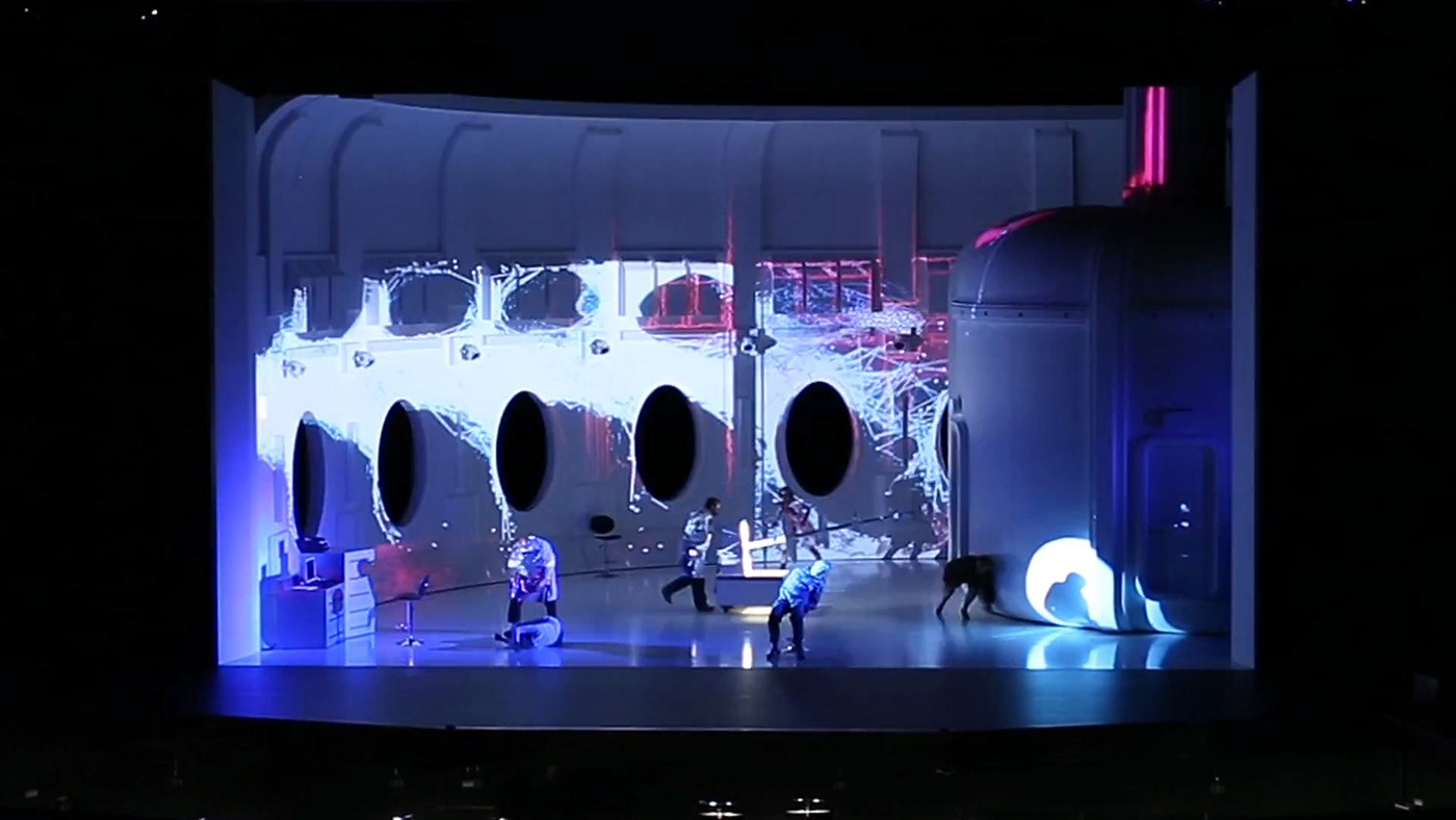 "The ""Solaris"" opera video mapping"