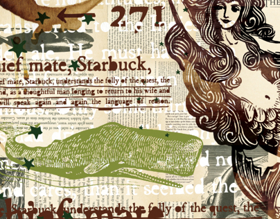 Starbucks Moby Dick Mural