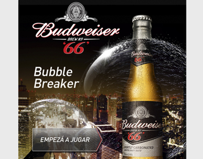 App Facebook | Budweiser 66 | Bubbles Off, Night On
