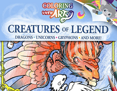 Creatures Of Legend Coloring Book