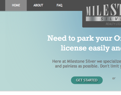 Milestone Silver - Website design