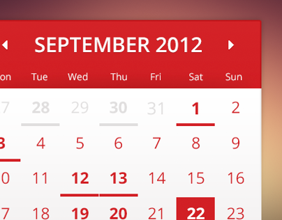 Simple Calendar PSD download