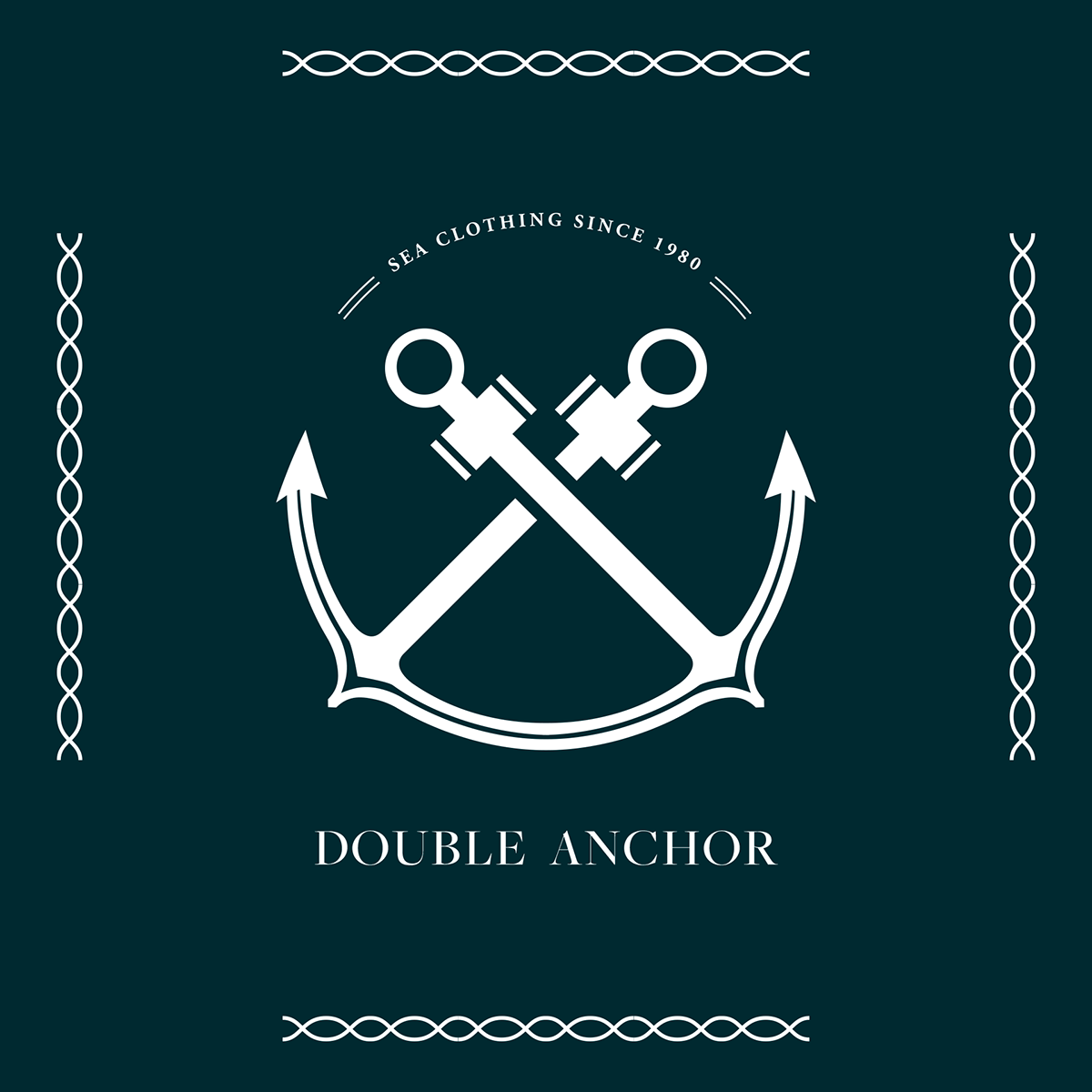 Double anchor logo design