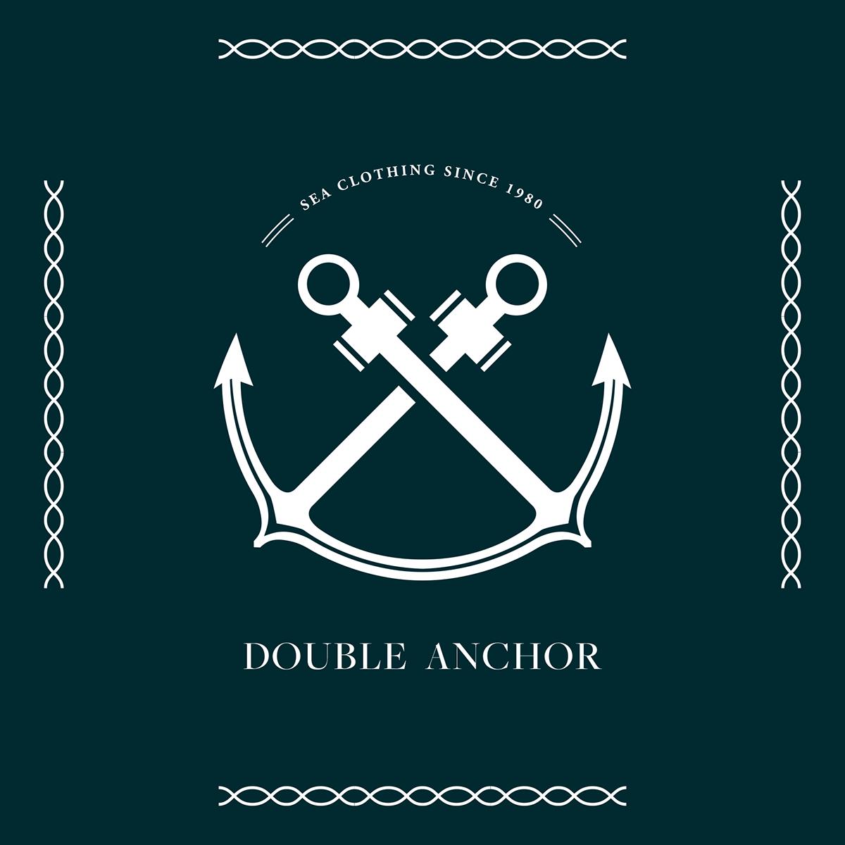 Double anchor logo design