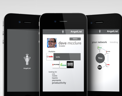 AngelList conceptual design for mobile app for the lulz
