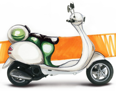 Vespa - concept with focus on women