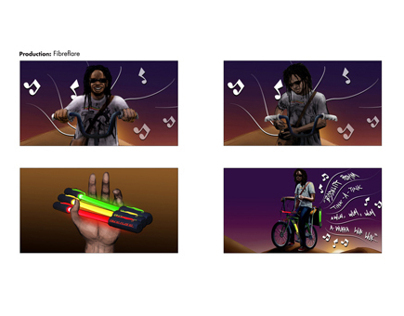 Fibre Flare Bike lights - Storyboard art for TVC