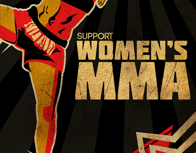 Support Womens MMA Poster
