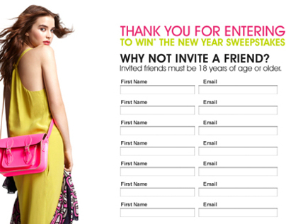 Bloomingdales Monthly Sweepstakes