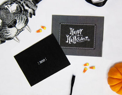 Halloween Concept Stationary  for West Elm