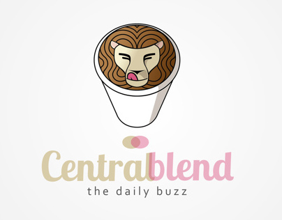 graphic design for an American coffee CENTRAL BLEND