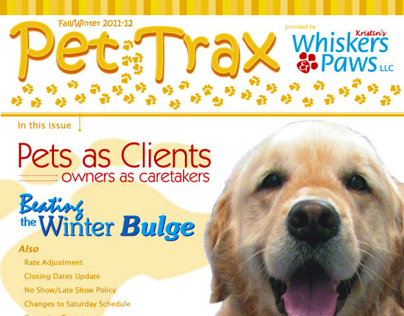 Pet Trax Yearly Newsletter
