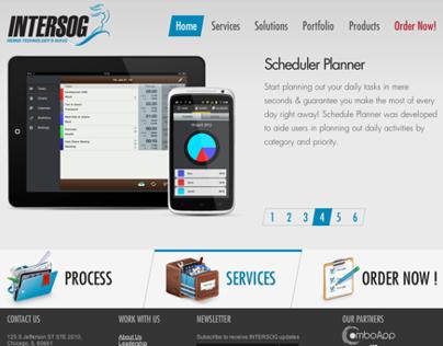 Intersog Mobile site.