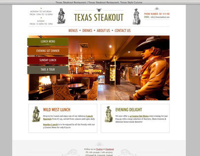 Website Design & Development of TexasSteakout.com