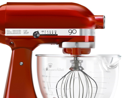 Electric Mixer Digital Illustration