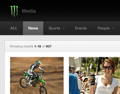 Monster Energy Media Site