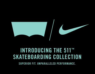 Nike x Levis Skateboarding Collection Microsite