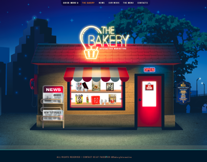 The Bakery // web design and illustration