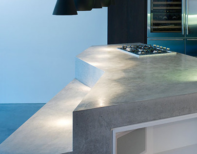 London E18 - Concrete Countertop (White + Reid)