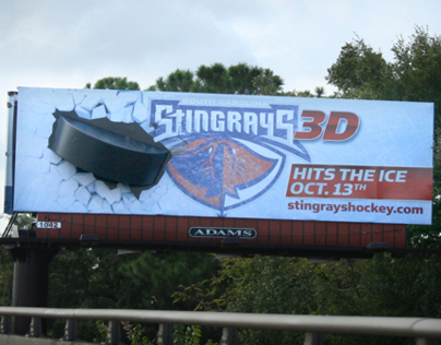 Stingrays Hockey Billboard with 3D Prop