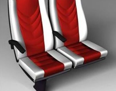 Fixed back bus seat