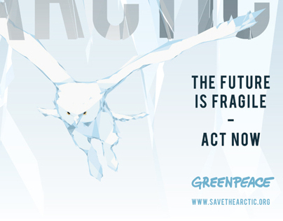 Posterdesign made for Greepeace - Save The Arctic