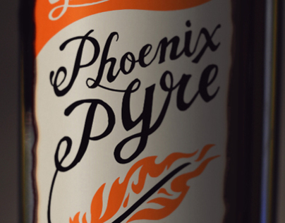 Phoenix Pyre Wine Label