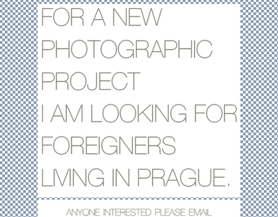 New Photography Project in Prague