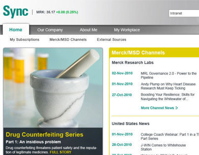 Merck Enterprise Portal Redesign v2.0