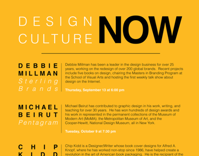 MoMA Design Culture Now Poster Series