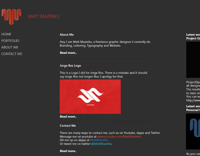 Matt Mazreku Website Design