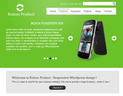 Kolour Product - Colorful Wordpress Theme