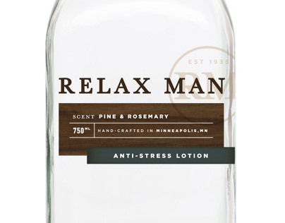 Relax Man Skin Care Packaging