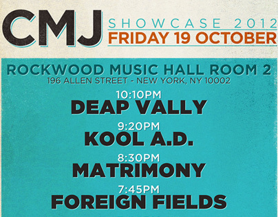 CMJ Showcase 2012