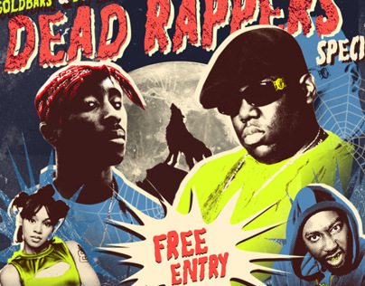 Dead Rappers - Halloween Flyer