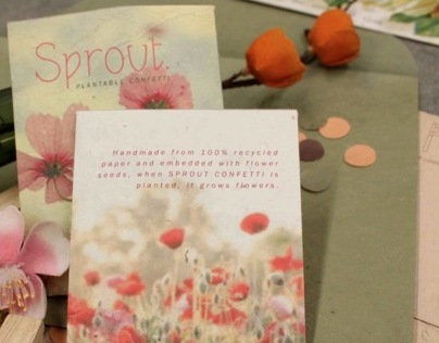 Sprout. Plantable Paper