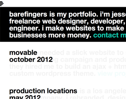 barefingers.net - responsive, fluid WordPress theme