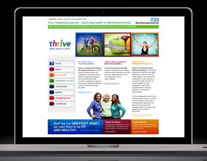 NHS Thrive Webpage Design