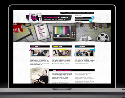 UK Film School Website Design