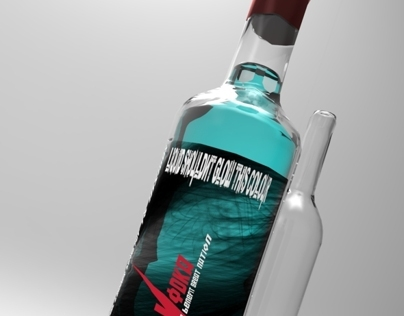 Bear Vodka - Branding and 3D esquisse