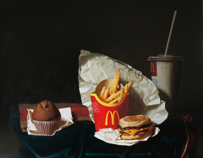 McBreakfast 55x60 wood/oil