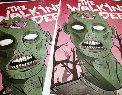The Walking Dead retro poster