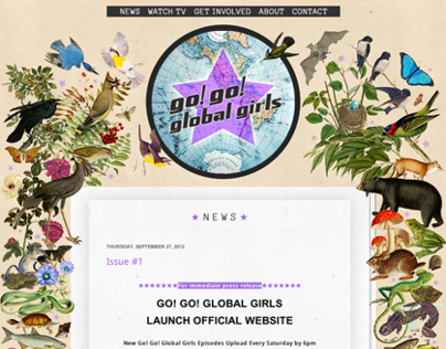 Go! Go! Global Girls website