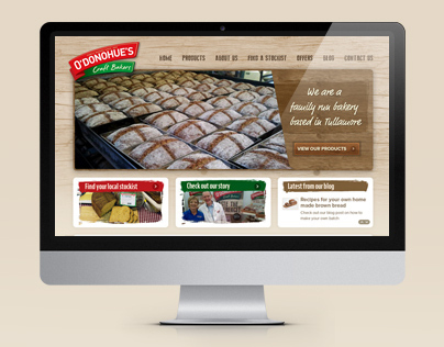 ODonohues Bakery Website Design