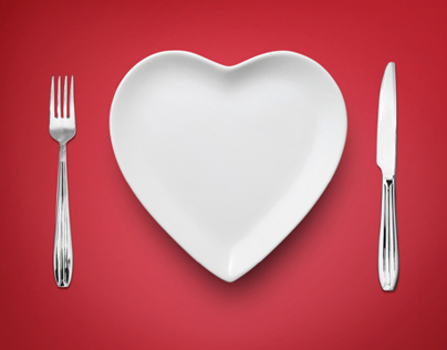 Restaurant Print Advertisement Valentine's Day